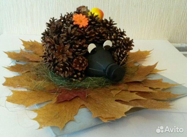 Поделки из шишек на тему осень в