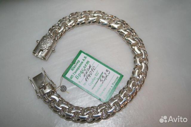 Серебряный браслет мужской цена купить в