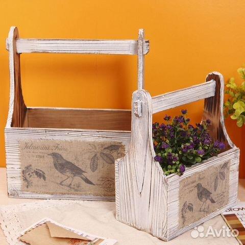 Ящик из дерева для цветов своими руками для