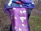 Новогодний шарфик со свинками ручной работы