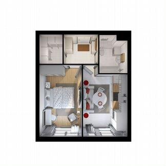 1-к квартира, 36.3 м², 18/33 эт. объявление продам