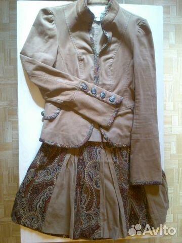 Вельветовый костюм и юбка