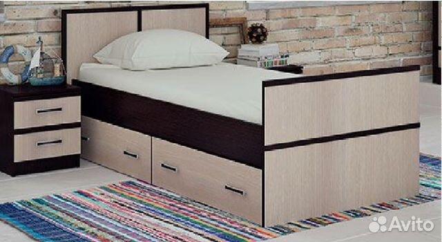 Односпальную кровать с ящиками для белья тула