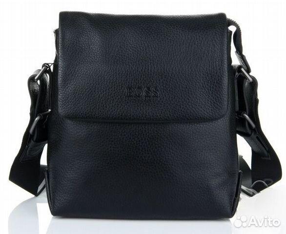 b69783668011 Мужская кожаная сумка планшет Hugo Boss black | Festima.Ru ...