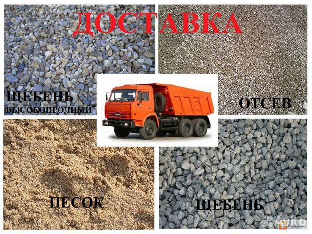 Доставка песка щебня чернозёма строительные материалы ооо сзк