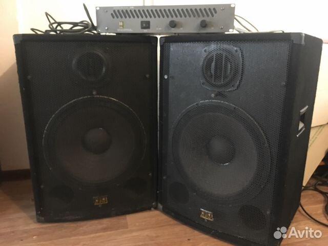 Концертные колонки порт аудио и проф. усилитель купить 1