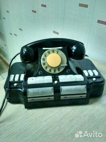 Стационарный карболитный телефон ретро