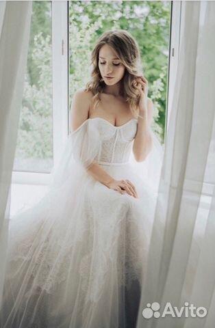 5e00899135da94d Свадебное платье в стиле бохо прокат А1719, Р-р S купить в Санкт ...