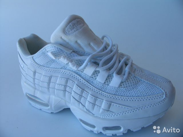 buy online 4963e 692c8 Кроссовки Nike Air Max 95 Белые Б.П.35— фотография №1