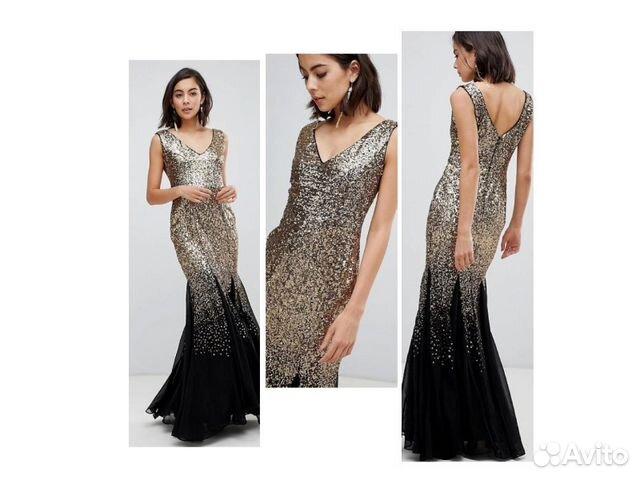 acefe27e810 Шикарное вечернее платье в пайетках на выпускной