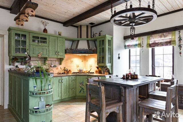 кухня в стиле прованс из массива дерева 9 купить в московской
