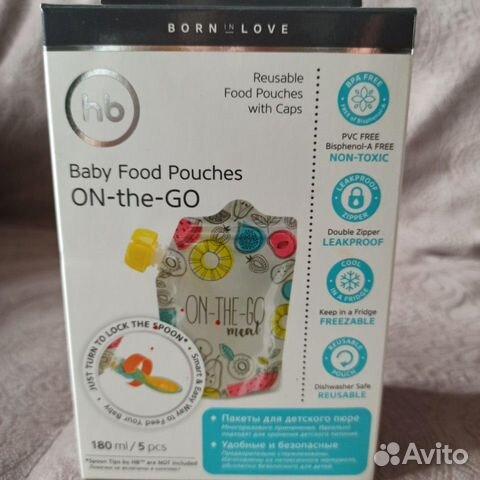 Многоразовые пауч-пакеты для детского питания  купить 1