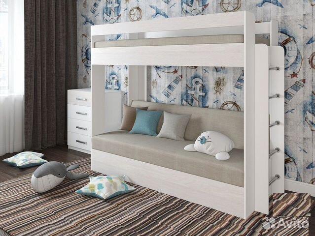 Кровать двухъярусная с диваном бел/анкор/ (79050)