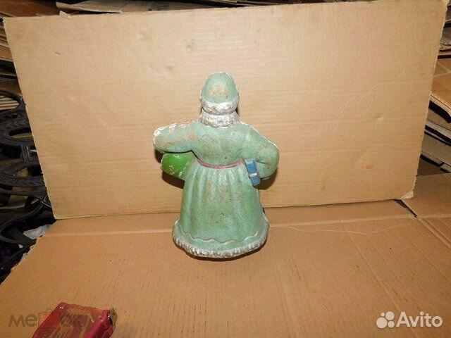 Старинная новогодняя игрушка дед Мороз пресс-опилк  89065103360 купить 5