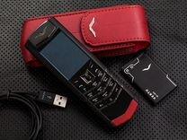 Vertu Signature Black красная кожа