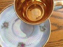 Заварной чайник сахарница, чашка с блюдцем