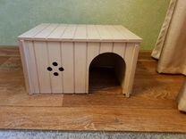 Деревянный домик для крупных грызунов