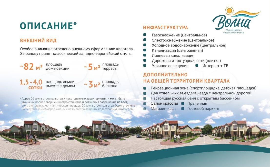 Таунхаус 82 м² на участке 1.5 сот.  89814708100 купить 7