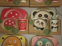 Посуда из бамбука для детей