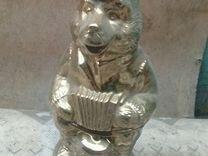 Сувенир медведь позолота0.3мм