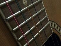 Струны акустика цветные новые