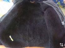 Тулуп натуральный мех новый р. 54, в рукавах ватин