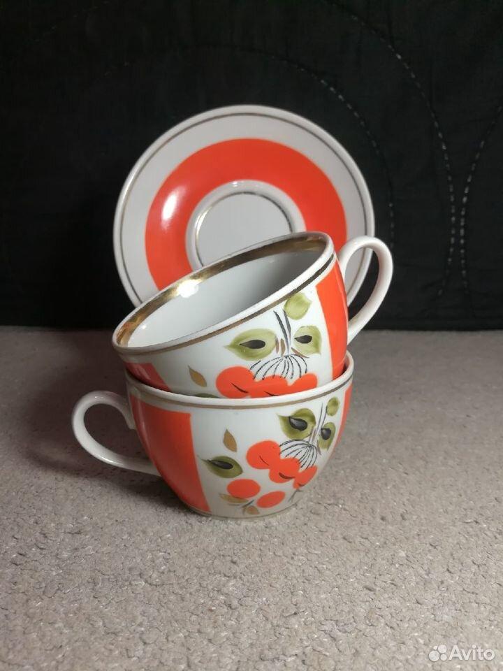 Чайные пары Рябина СССР завод Полонне, 80-е 89003463073 купить 2