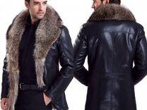 Мужские зимние кожаные куртки и пуховики с мехом — Одежда, обувь, аксессуары в Москве