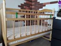 Детская кроватка с матрацем (из магазина Кораблик)