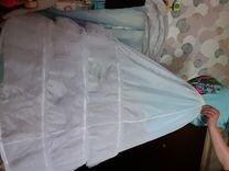 Пышный кринолин для платья, на 4 кольца с рюшами